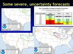 some severe uncertainty forecasts