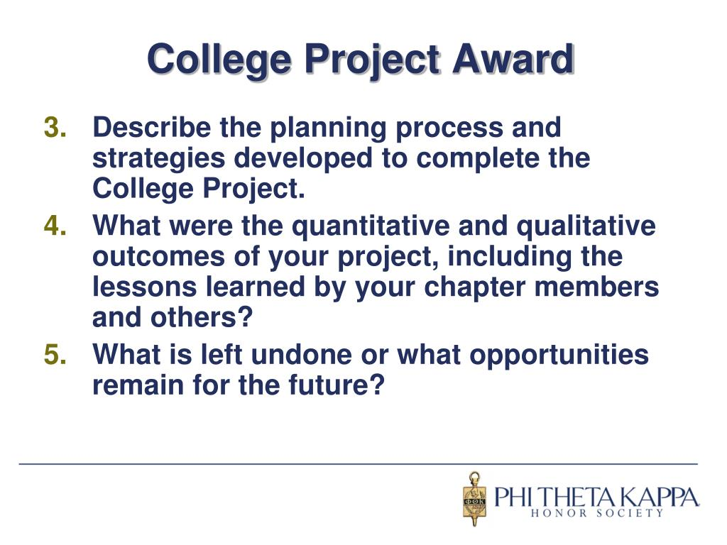 College Project Award
