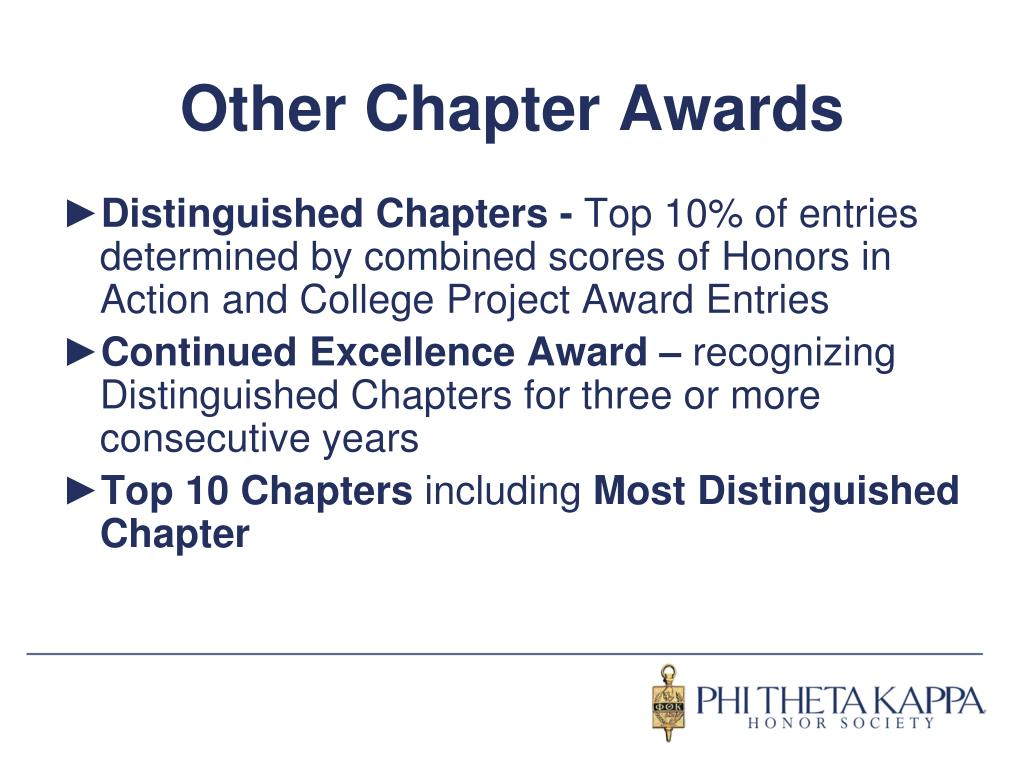 Other Chapter Awards