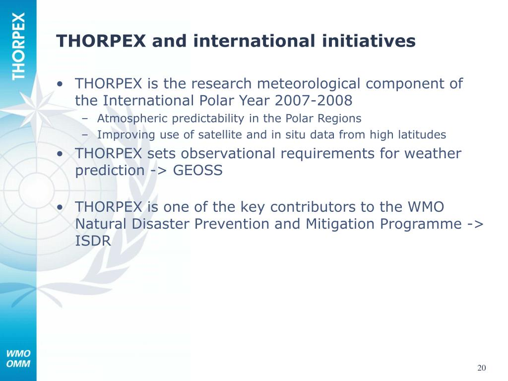THORPEX and international initiatives