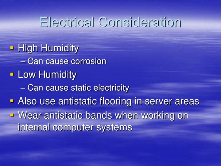 Electrical Consideration