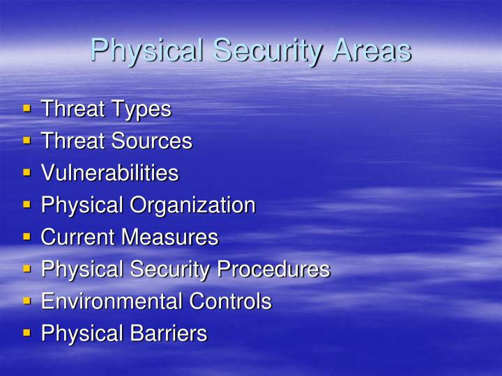 Physical security areas