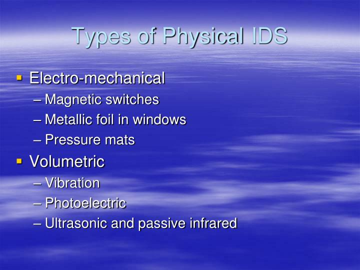 Types of Physical 	IDS
