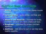 nutrition basic definitions