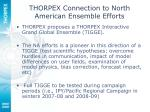 thorpex connection to north american ensemble efforts