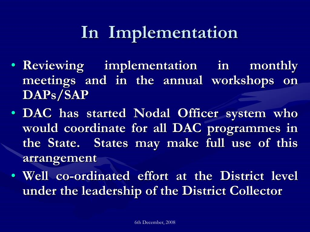 In  Implementation