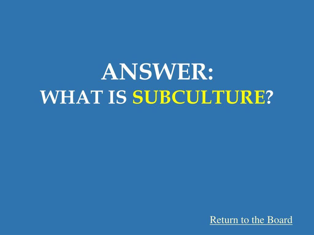 ANSWER: