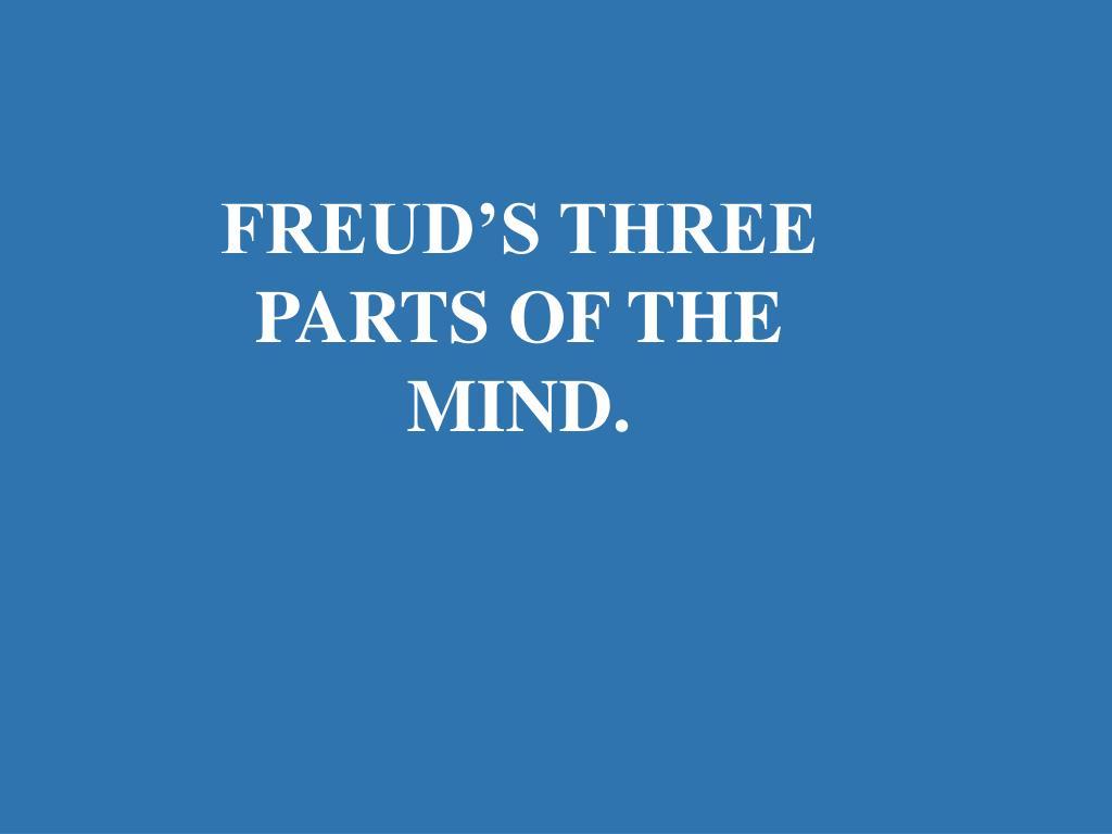FREUD'S THREE PARTS OF THE MIND.