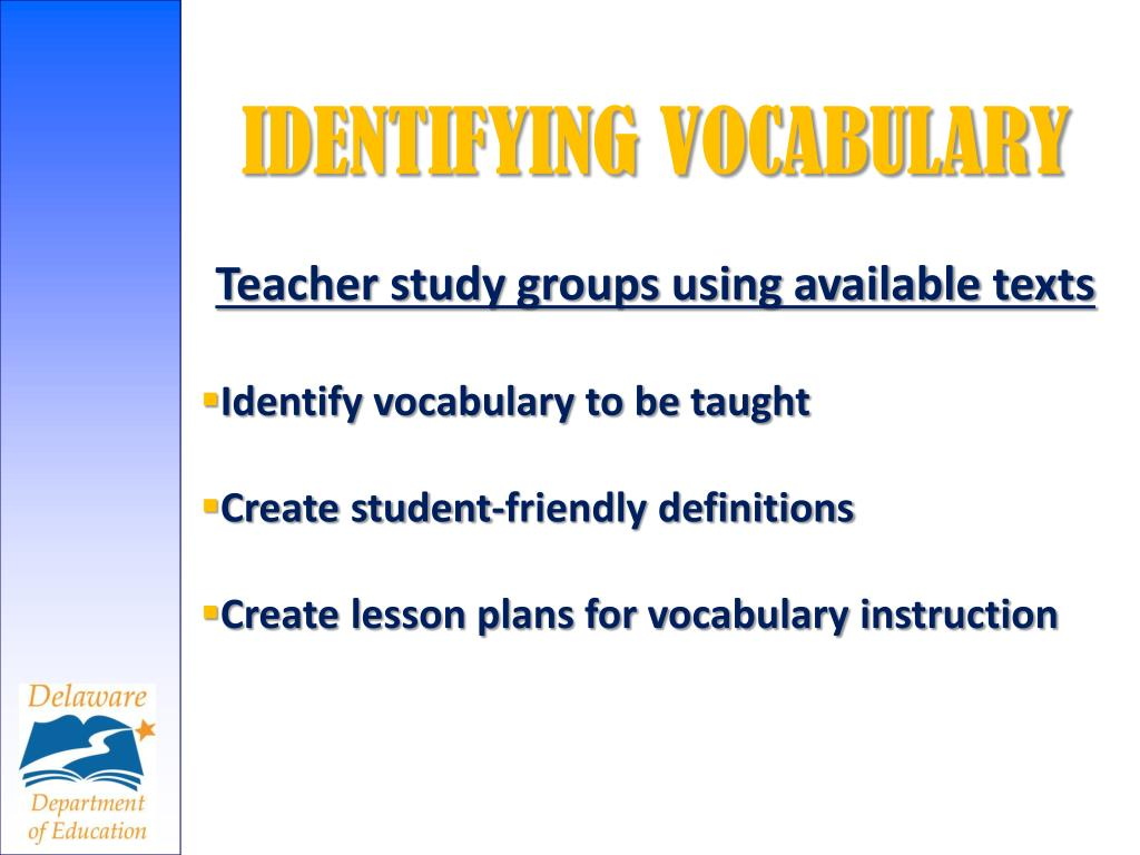 IDENTIFYING VOCABULARY