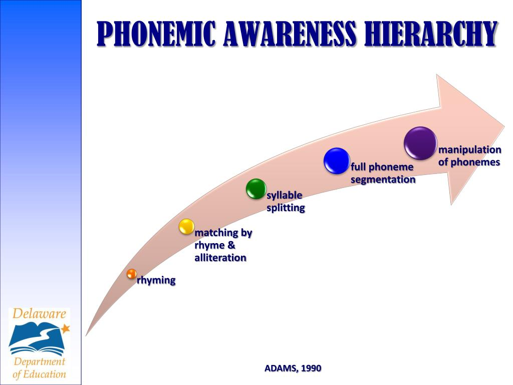 PHONEMIC AWARENESS HIERARCHY