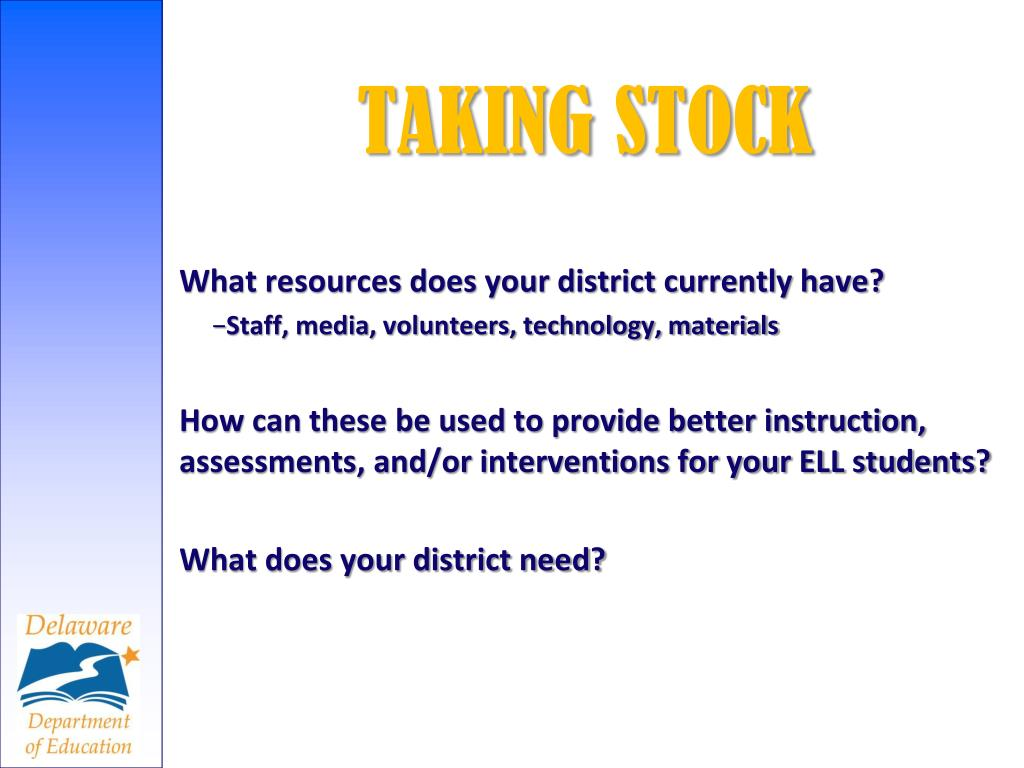 What resources does your district currently have?