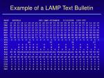 example of a lamp text bulletin