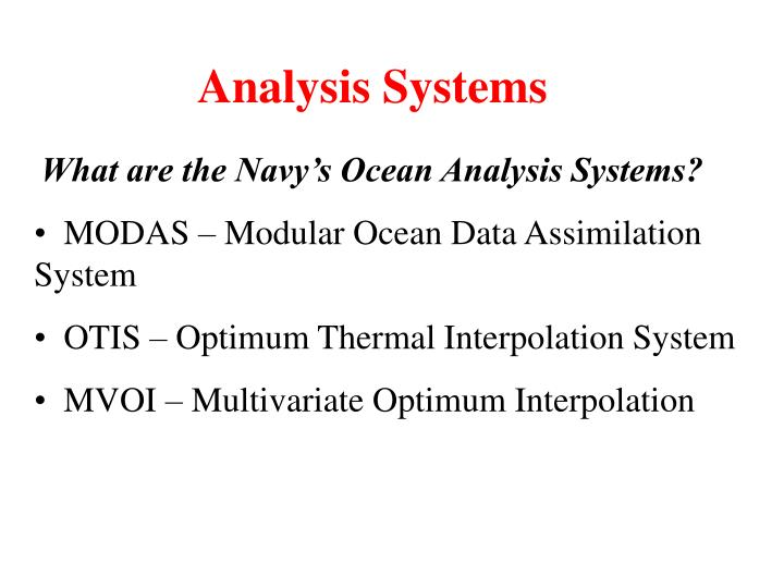 Analysis Systems
