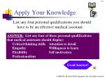 apply your knowledge40