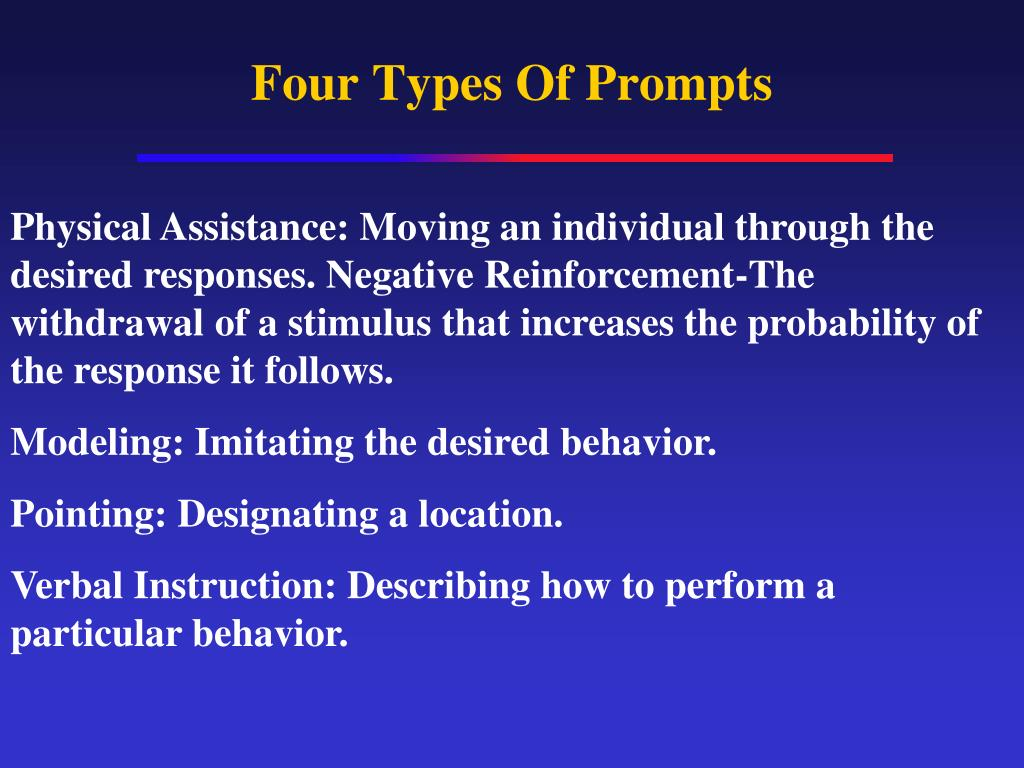 Four Types Of Prompts