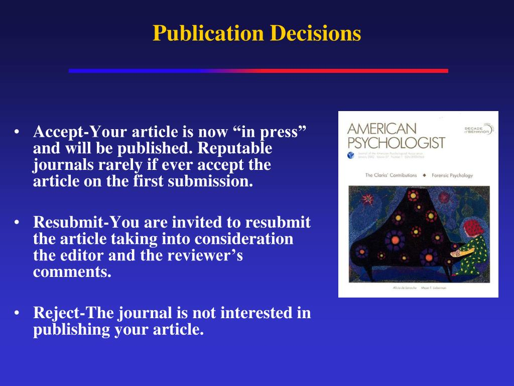 Publication Decisions