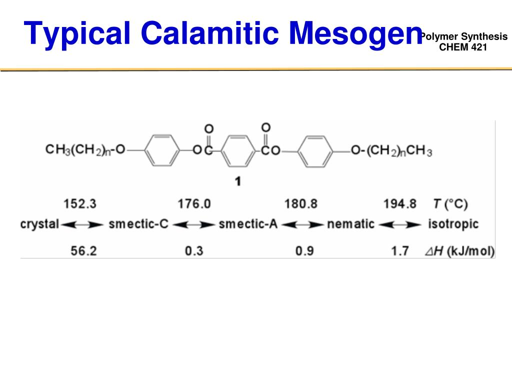 Typical Calamitic Mesogen