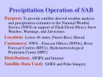 precipitation operation of sab