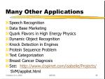 many other applications