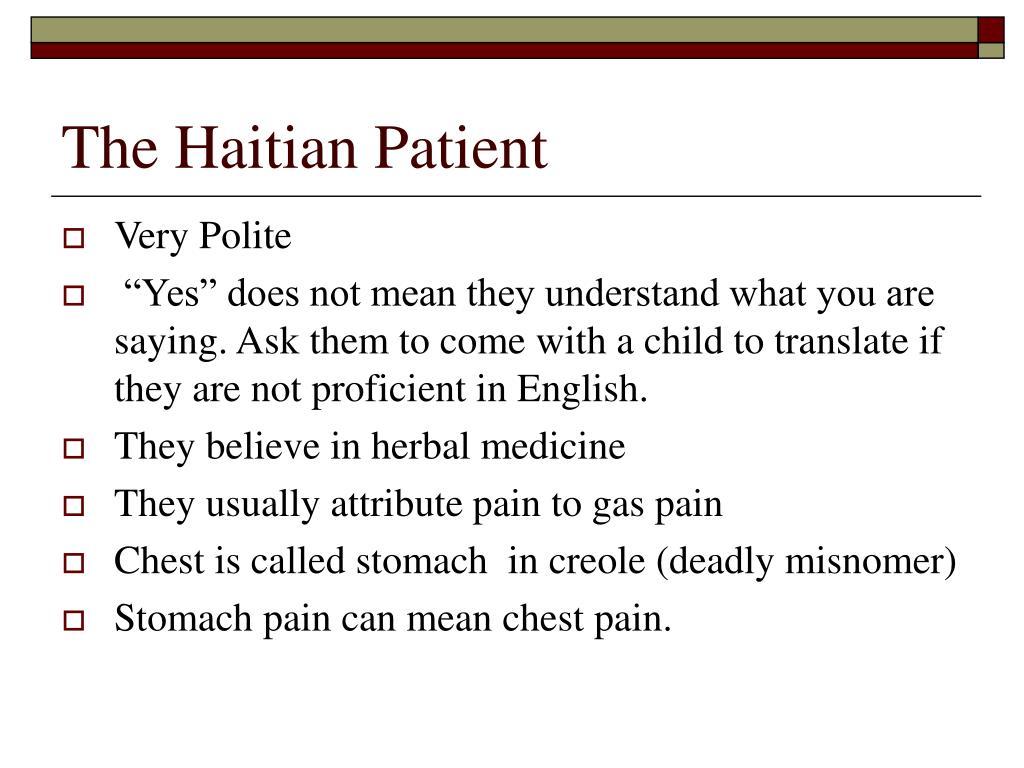 The Haitian Patient