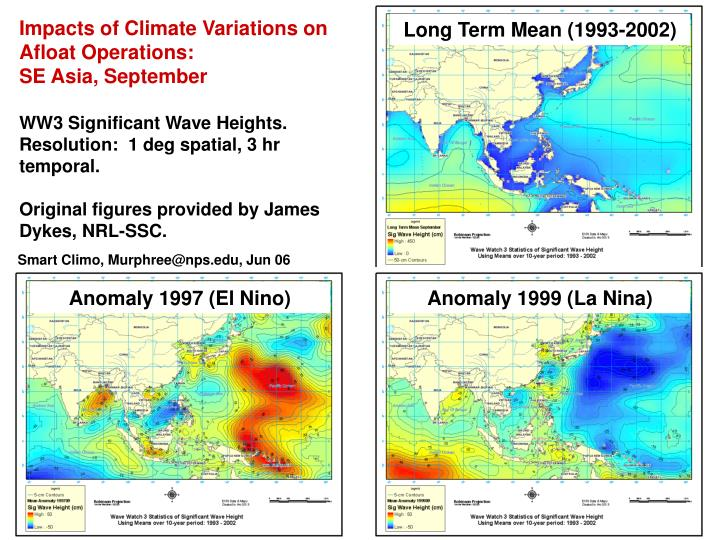 Impacts of Climate Variations on Afloat Operations: