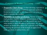 computer weather forecasting contd