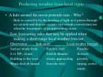 predicting weather from local signs