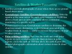satellites weather forecasting
