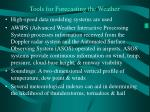 tools for forecasting the weather