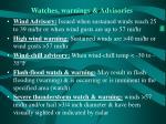 watches warnings advisories