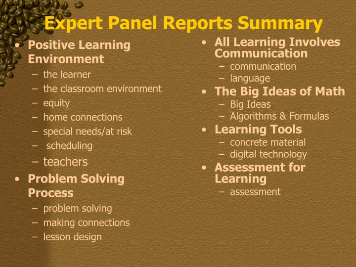 Positive Learning Environment