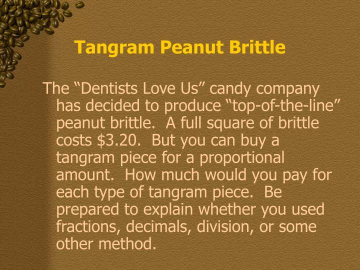 Tangram Peanut Brittle