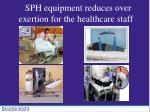 sph equipment reduces over exertion for the healthcare staff