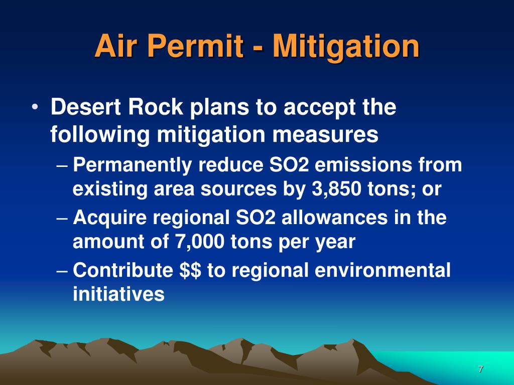 Air Permit - Mitigation