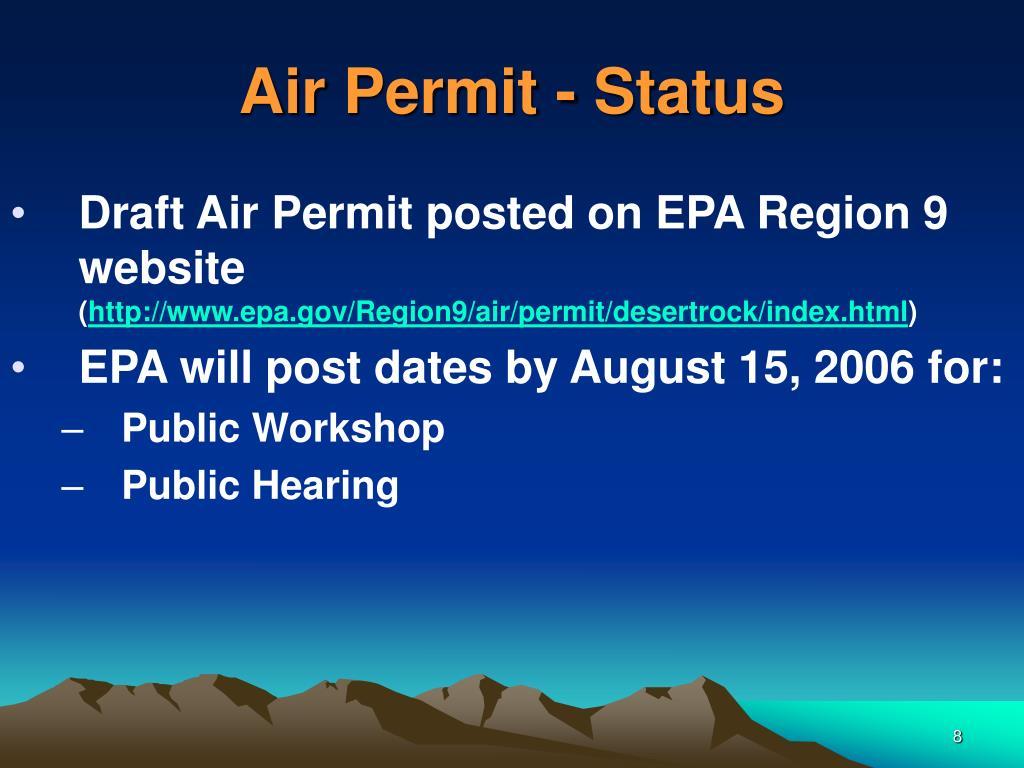 Air Permit - Status