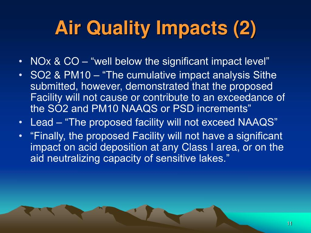 Air Quality Impacts (2)