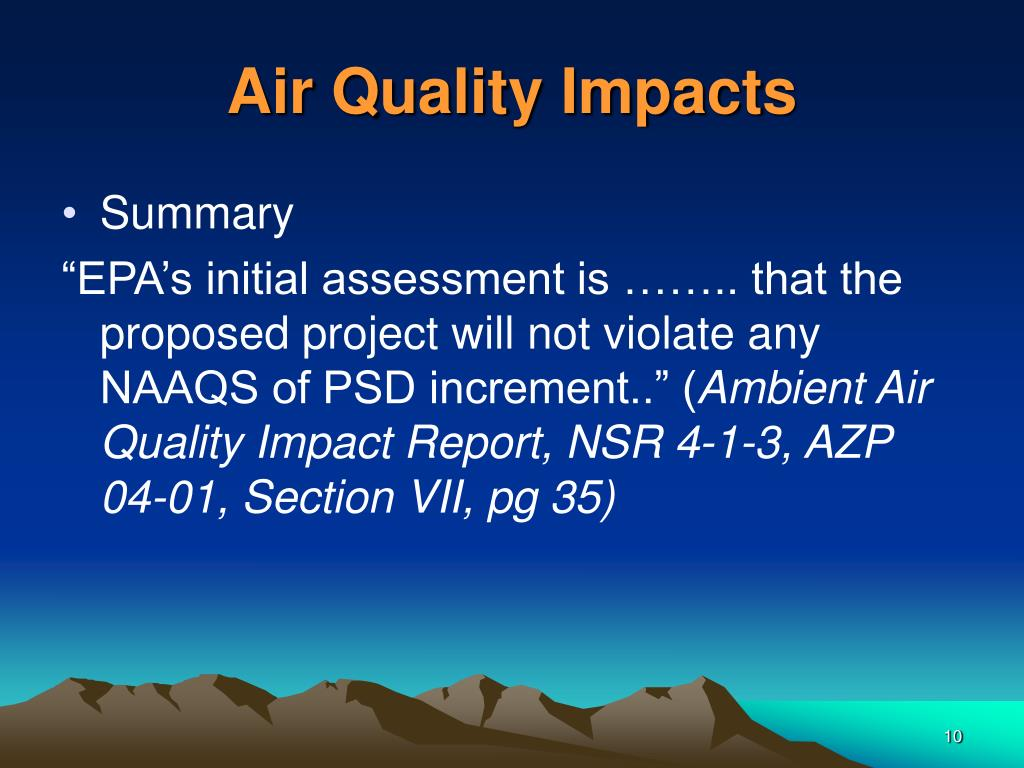 Air Quality Impacts