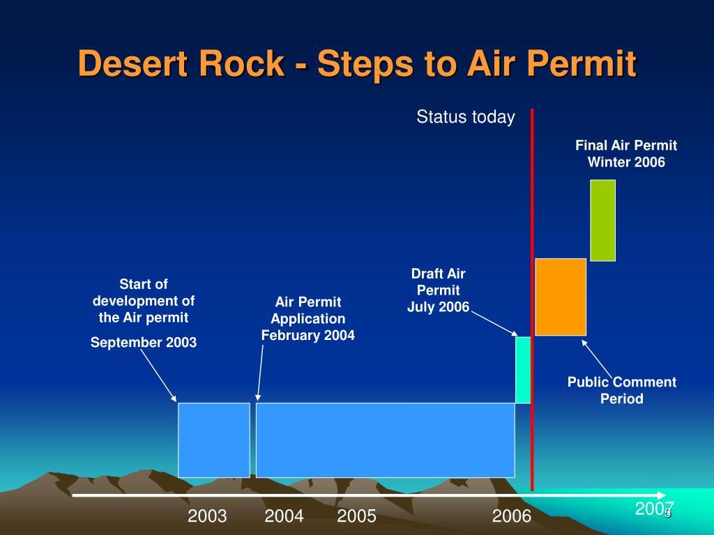 Desert Rock - Steps to Air Permit