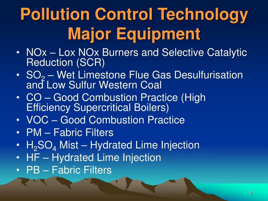 Pollution Control Technology