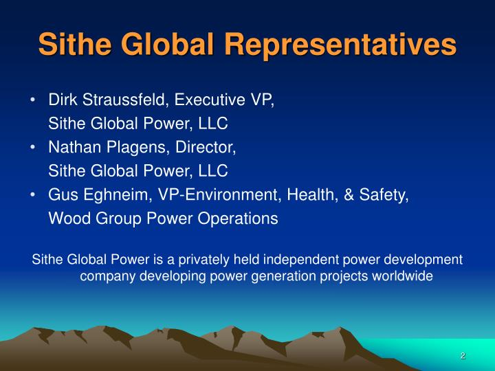 Sithe global representatives