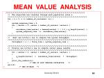 mean value analysis60