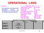 operational laws54