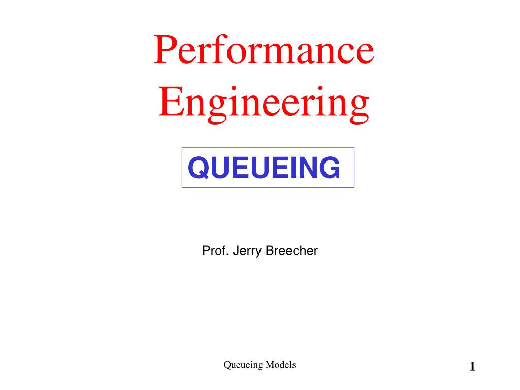 performance engineering l.