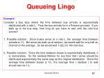 queueing lingo15