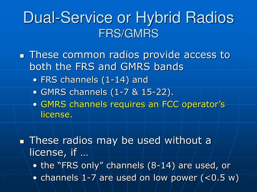 Dual-Service or Hybrid Radios