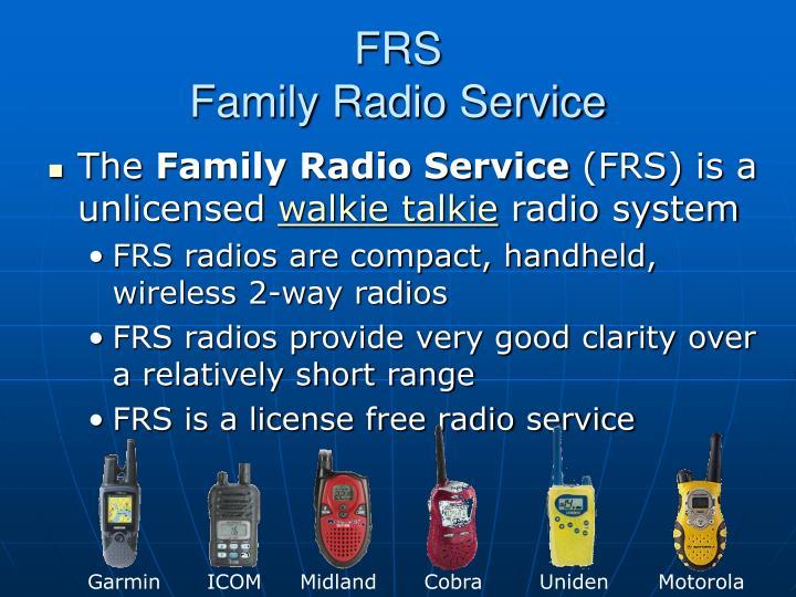 Frs family radio service