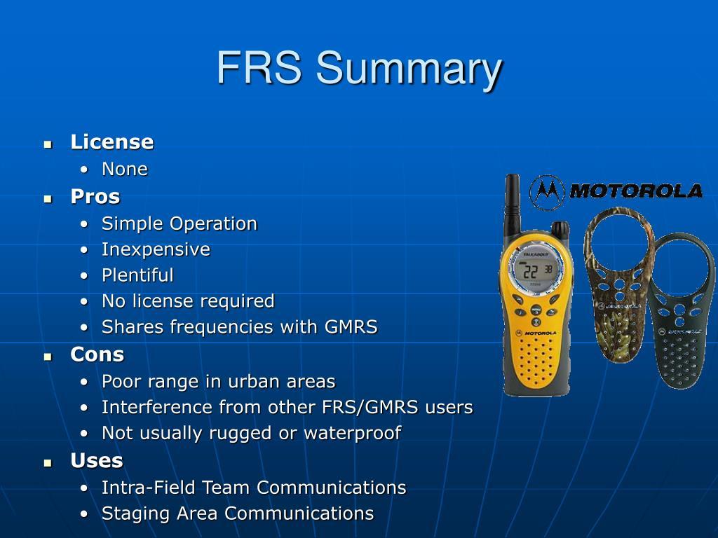 FRS Summary