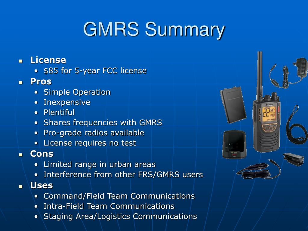 GMRS Summary