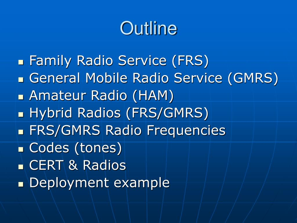 PPT - FRS, GMRS, & HAM Radios PowerPoint Presentation - ID:369890