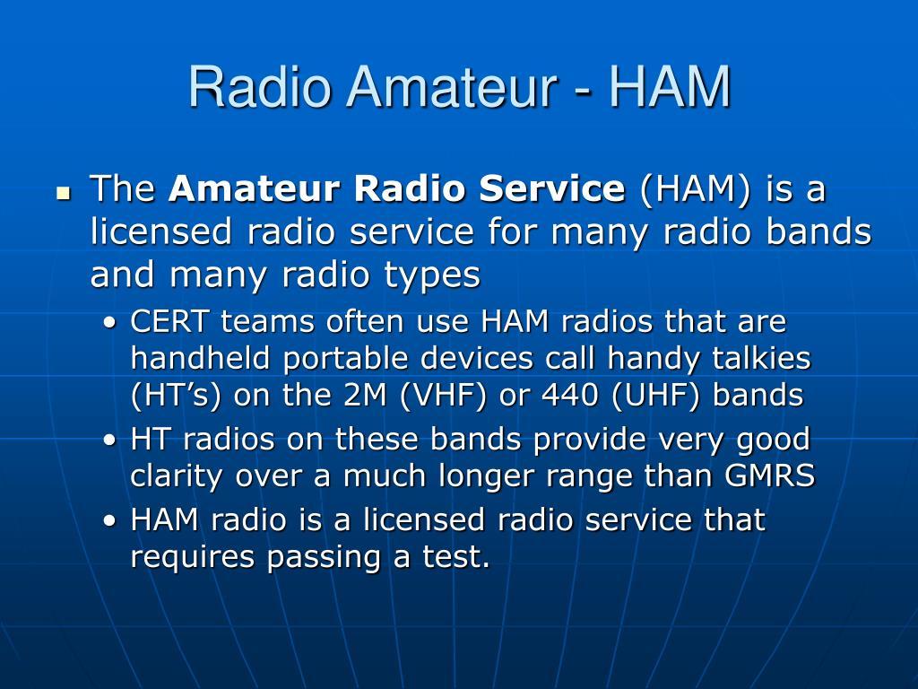 Radio Amateur - HAM